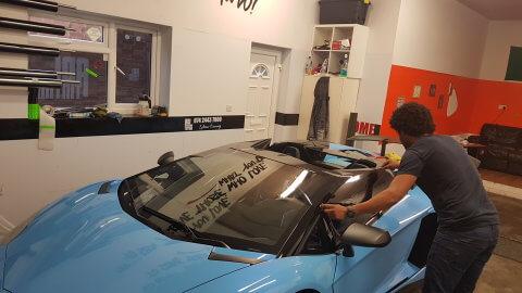 Lamborghini window tint