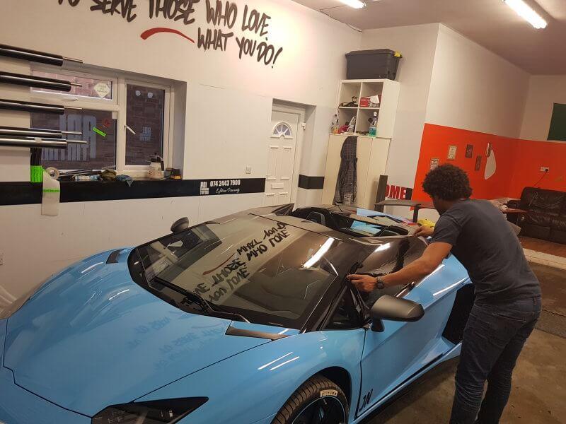 Lamborghini window Tinting